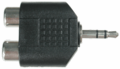 Hosa GRM-193 - Adaptor Dual RCA to 3.5 mm TRS