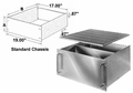 Bud Industries TBC-14262 - Aluminum Enclosure-C series-Rack mount Chassis-L17 X W17 D0 Rak-Mount T/B Cover (Vented)