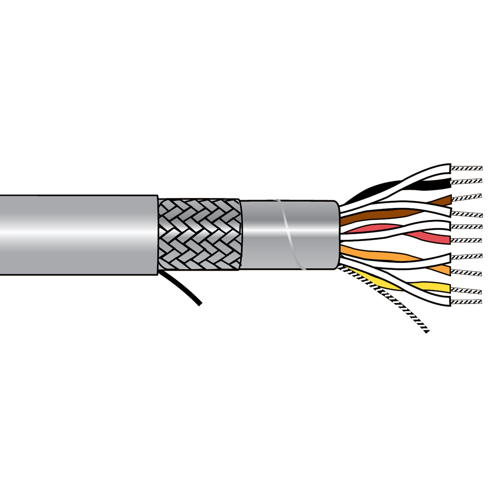 Alpha Wire 5121C SL005 - Cable 5121C Slate 100 Ft - A-I Consolidated