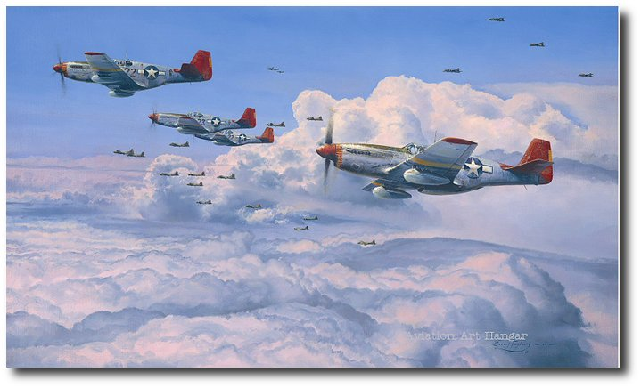 Fighting Red Tails The Tuskegee Airmen By Robert Taylor P 51