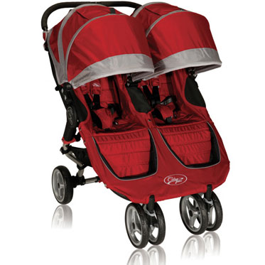 Baby Jogger City Mini Double 2013 Stroller Crimson Gray