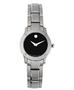 0604061 VERSO LADIES STAINLESS STEEL BLACK DIAL