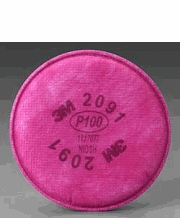 3M 2091 P100 Particulate Filter (1 pair)