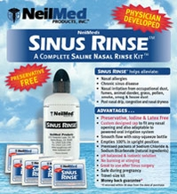 NeilMed Sinus Rinse  Kit With Bottle and 50 Packets