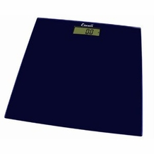 Escali B180SC Glass Platform Bathroom Scale, Midnight Blue 400lb
