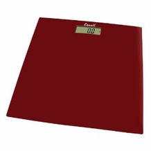 Escali B180SC Glass Platform Bathroom Scale, Rio Red 400lb