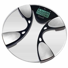 Escali BFBW200 Glass Body Fat Bathroom Scale, 400lb