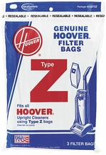 Hoover 4010075Z Type Z Vacuum Cleaner Bags (3 pack)
