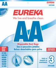 Eureka 58236a Style AA Replacement Vacuum Bags (3 pack)