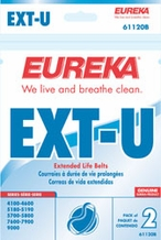 Eureka 61120b Style U Extended Life Replacement Belts (2 pack)