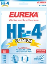 Eureka 61505 Style HF4 Replacement Vacuum HEPA Filter (3 pack)
