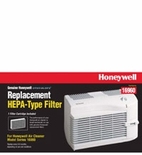 Honeywell 16960 Replacement Air Cleaner HEPA Filter Cartridge for Honeywell 16060, 1606x