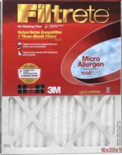 3M Filtrete Micro Allergen Reduction Furnace Filter 15'' x 20'' x 1''