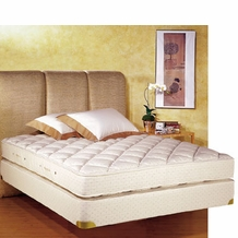 Royal Latex Queen-Size Quilt-Top Mattress w/ Box Spring