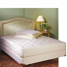 Royal-Pedic Twin-Size All Cotton Mattress w/ Box Spring