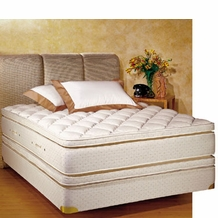 Royal-Pedic Twin XL-Size Pillowtop Mattress w/ Box Spring
