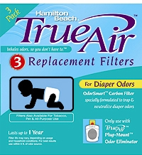 Hamilton Beach 04233 Long Life Air Cleaner Diaper Odor Filter (3 pack)