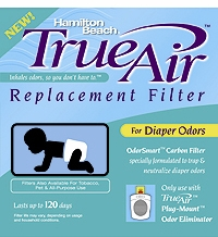 Hamilton Beach 04293 TrueAir Replacement Air Cleaner Diaper Odor Filter