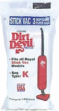 Dirt Devil 3-320230-001 Type K Vacuum Cleaner Bag (3 pack)