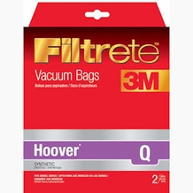 Filtrete Hoover 64720 Type Q Synthetic Bags, 2 Pack