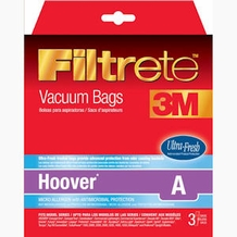 Filtrete Hoover 64730 Type A Pet MicroAllergen Bag, 3 pack