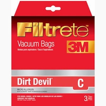 Filtrete Dirt Devil 65700 Type C MicroAllergen Bag, 3 pack