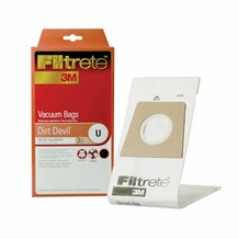 Filtrete Dirt Devil 65703 Type U MicroAllergen Bag, 3 Pack