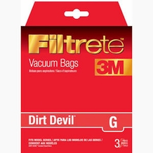 Filtrete Dirt Devil 65704 Type G Allergen Bag, 3 pack