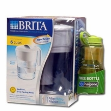 Brita 35377 Classic Pitcher with 16oz Nalgene Water Bottle