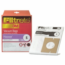Filtrete Hoover 64705 Type S MicroAllergen Bags, 3 pack