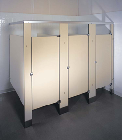 Phenolic toilet partitions for Knickerbocker bathroom partitions