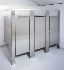 Stainless steel partitions for Knickerbocker bathroom partitions