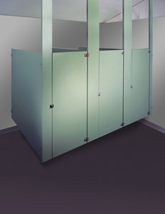 Ceiling Hung Plastic Laminate Restroom Partitions