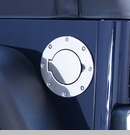 Gas Hatch Cover, Jeep TJ (1997-2006), Stainless Steel