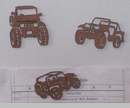 Rustic Jeep Magnets (Set of 3)