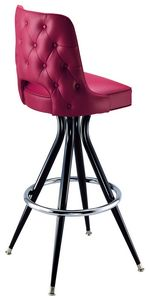 Open Tufted Back Bar Stool