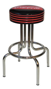 Coke Longneck Fishtail Bar Stool