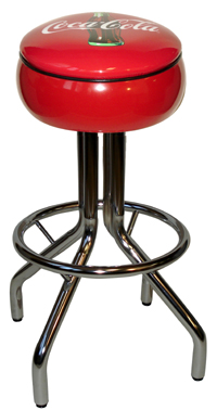 Coca Cola Ringed Bar Stool