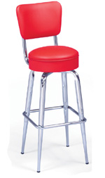 Tapered Seat Back Bar Stool