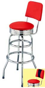 Seat Back Diner Bar Stool Retro Bar Stools