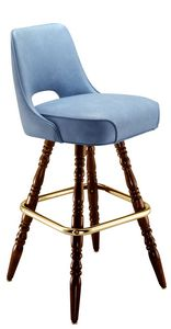 Open Back Wood Bar Stool