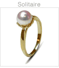 Solitaire a Japanese Akoya Cultured Pearl Ring