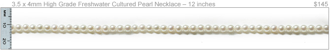 4mm High Quality Freshwater Cultured Pearl Necklace