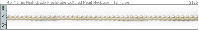 4 x 4.5mm High Quality Freshwater Cultured Pearl Necklace