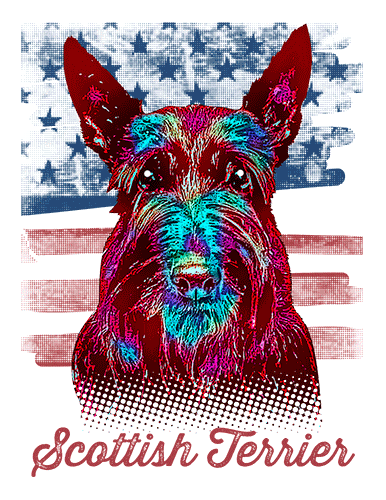 Scottish Terrier T Shirt American Flag