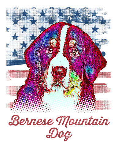 Bernese Mountain Dog T Shirt American Flag