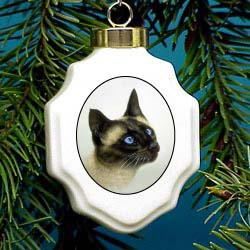 Siamese Christmas Ornament Porcelain