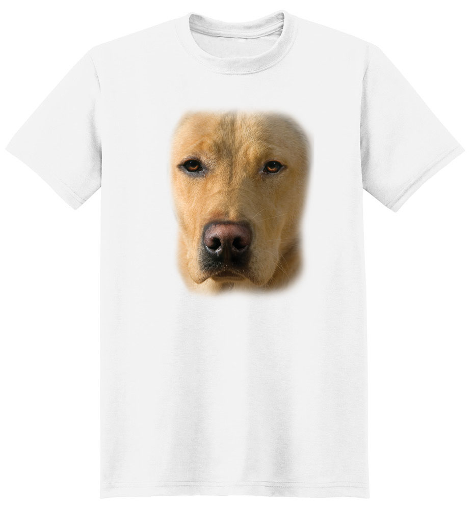 Yellow Lab T Shirt Full Face