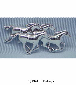 Four Running Horses Pin