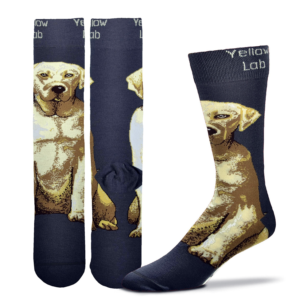Yellow Lab Realistic Socks